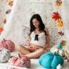 Фотосессия беременных в студии - осень