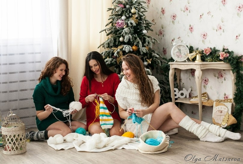 фотосессия в новогодней студии фото